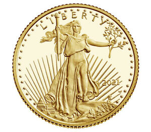 American Eagle 2021 One-Tenth Ounce Gold Proof- Unopened-First Strike Eligible