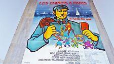 LES CHINOIS A PARIS ! j yanne affiche cinema animation bd dessin tito topin 1974