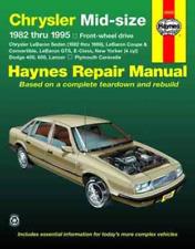 Haynes Workshop Manual Chrysler Mid Size LeBaron New Yorker E-Class 1982-1995