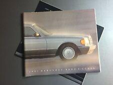 1991 Mercedes Benz S Class DELUXE Showroom Advertising Sales Brochure RARE! L@@K