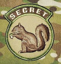 BLACK OPS USA ARMY US TOP SECRET SQUIRREL MULTICAM HOOK PATCH