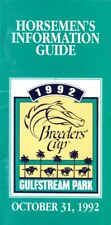 1992 Breeders Cup Gulfstream Park 52 Page Horseman's Information Guide