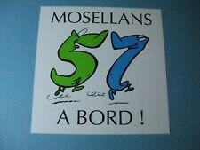 AUTOCOLLANT ANCIEN : Mosellans à bord !
