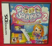 Squinkies 2 Adventure Mall Surprize Nintendo DS Lite 3DS 2DS Game Complete Works
