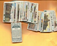 1915 W.D. & H.O. WILL'S CIGARETTES GEMS OF BELGIAN ARCHITECTURE 50 CARD SET