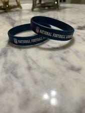 National Football League Rubber Wrist Bands - 2  Brand New Open Pieces