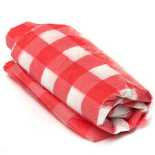 Red Gingham Plastic Disposable Wipe Check Tablecloth Party Outdoor Picnic KQ