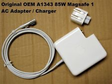 """Original OEM 85W MagSafe 1 AC Adapter for APPLE 15"""" 17"""" MACBOOK PRO A1343 Used"""
