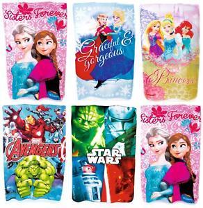 Official Character Fleece Blanket, Disney Frozen Avengers Star Wars Blankets