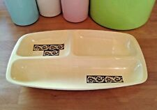 Large 34cm Vintage 1960s/70s Carlton Ware Yellow Brown Divided Dish