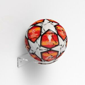 Premium Football Display Stand /  Ball Holder Shelf / Signed Autographed Holder
