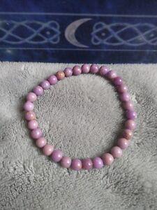Phosphosiderite crystal healing 6mm bead bracelet