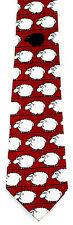 Bah Bah Black Sheep Mens Necktie Animal Neck Tie Farm Novelty Funny Red New