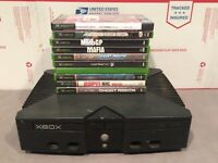 xbox original console W/ 10 game lot