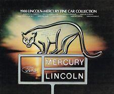 1980 Lincoln-Mercury Brochure: Zephyr,Continental,Mark6,Marquis,Cougar XR7,Capri