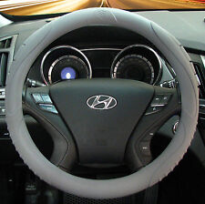 MASADA Premium Silicone Car Steering Wheel Cover (Gray) - One size fits all