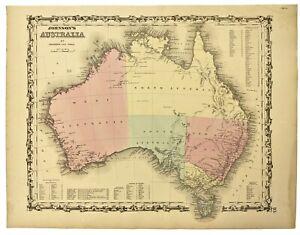 1862 Johnson's Australia **Original