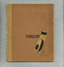1937 Jan Tschichold TYPOGRAPHY 3 Shenval Press Ashley Havinden Frederick Goudy