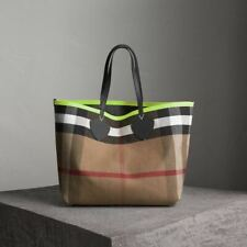 NWT Burberry The Giant Reversible Tote In Canvas Check & Leather EXLarge 4065918