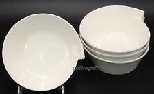 Villeroy & Boch New Wave Caffe * 4 SOUP / CEREAL / RICE BOWLS * White, Excellent