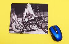 Brigitte Bardot on Harley Davidson MOUSE PAD  Computer  Home Office Decor