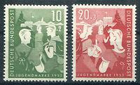 Bund 153 - 154 sauber postfrisch Bundesjugendplan BRD 1952 MNH