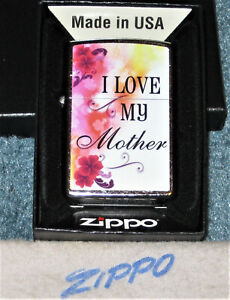 ZIPPO  I LOVE MY MOTHER Lighter FOR THE SPECIAL MOM Mint In Box NEW 2020 Flowers