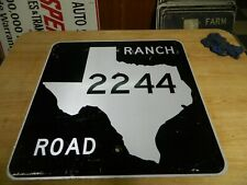 Retired Texas Ranch Road Sign 2244 Travis County Bee Cave Road