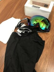 NEW Anon MIG Ski Snow Goggles Sonar Green Zeiss Lens MFI Magnetic Mask