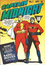 FlashBack #37 Captain Midnight #1 Don Maris Reprint 1976 Black & White VG A/E
