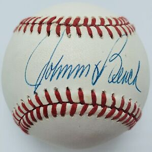 Johnny Bench Hall of Fame Cincinnati Reds Autographed Baseball. Authenticated.