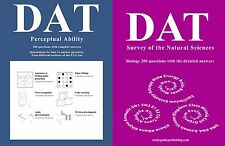 Perceptual Ability Test and Biology Study Guides for DAT bundle together