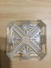 Glass Square Ashtray Retro Classic Design