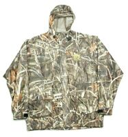 Hodgman Mens Jacket Campuflage Vented Outdoors Hunting Size XL Hooded Lined