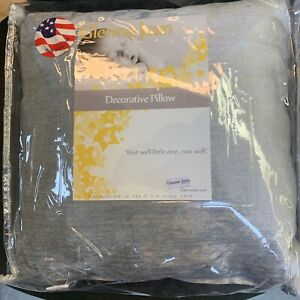 """Glenna Jean Fly-by Grey Throw Pillow - Gray Decorative Pillow 12"""" square"""