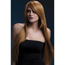 Women's Fever Amber Auburn Long Straight Professional Model Wig Fancy Dress
