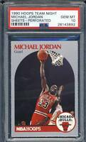 PSA 10 MICHAEL JORDAN 1990-91 90-91 Hoops Team Night Sheets #12 Bulls GEM MINT