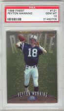 Peyton Manning Broncos 1998 Topps Finest #121 Rookie Card rC PSA 10 Gem Mint QTY