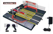 NUEVO SCX  Pit Box Scalextric Tecnitoys ANALOGICO  +2mandos y Transformador NEW
