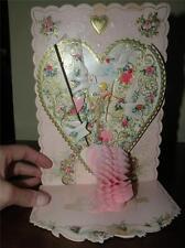 Vintage Die-Cut 3-D Embossed Valentine Greeting Card