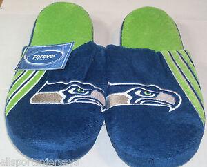 NFL Seattle Seahawks Stripe Logo Slide Slippers Size Men Extra Large by FOCO