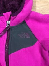 Baby THE NORTH FACE Hoodie Size 6-12 Months Pink And Gray Warm