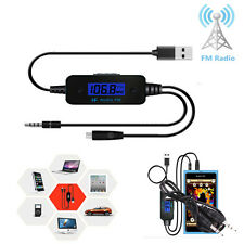 MP3 Audio FM Transmitter Adapter Converter Car Kit LCD With Micro USB Charger