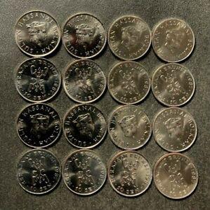 Old BRUNEI Coin Lot - 10 SEN - 16 AU/UNC Dealer lot Coins - Exotic - Lot #L26