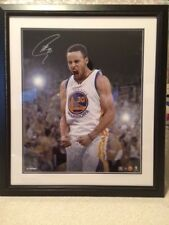 STEPHEN CURRY SIGNED+FRAMED 20x24 COLOR PHOTO      STEINER LE 8/30     VERY RARE