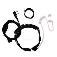 2Pin Covert Acoustic Tube Earpiece Headset PTT Throat MIC for Baofeng UV5R Radio