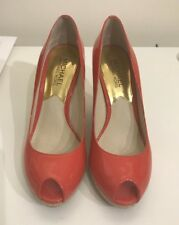 Michael Kors Women Shoes Open-Toe Coral 6,5M Excellent Condition Patent Leather