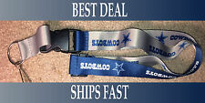 NEW NFL Official Team Colors REVERSIBLE KEYCHAIN LANYARD -Dallas Cowboys