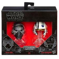 Star Wars The Black Series Titanium Kylo Ren & Poe Dameron Helmets 2-Pack BNIB