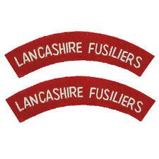 Lancashire Fusiliers - WW2 Repro Shoulder Titles Patch Badge British Army Flash